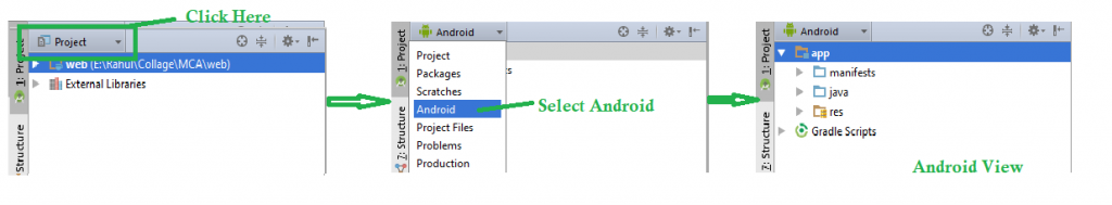 how to change full package name in android studio