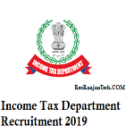 income tax department recruitment 2019 apply online
