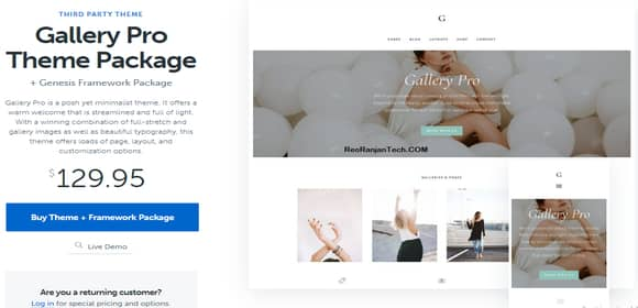 Download Free Gallery Pro WordPress Theme