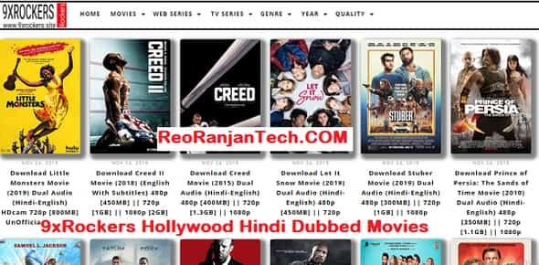 9xRockers Hollywood Hindi Dubbed Movies Download