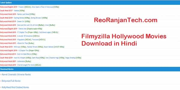 Filmyzilla Hollywood Movies Download in Hindi
