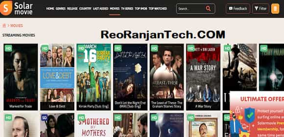 Top 10 SolarMovie Alternatives Website Link
