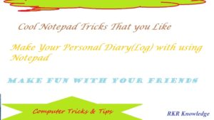3 Cool Notepad Tricks That You Like
