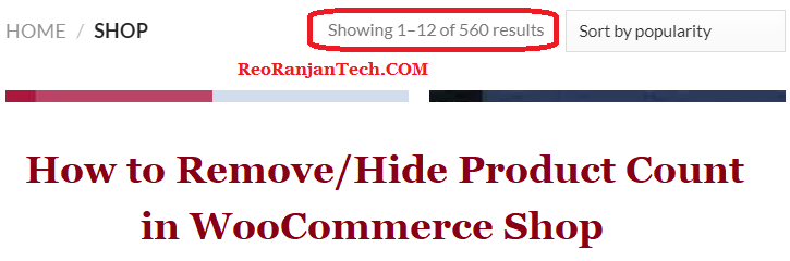 How to Remove/Hide Product Count in WooCommerce Shop