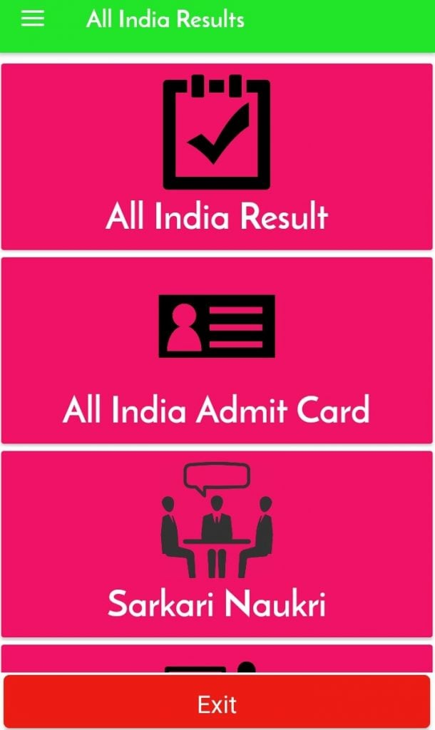 All India Admit Card