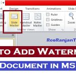 PPT में  watermark add कैसे करते है? – How to Add Watermark in MS Word