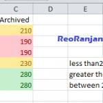 Excel में automatic color coding कैसे create करते है?