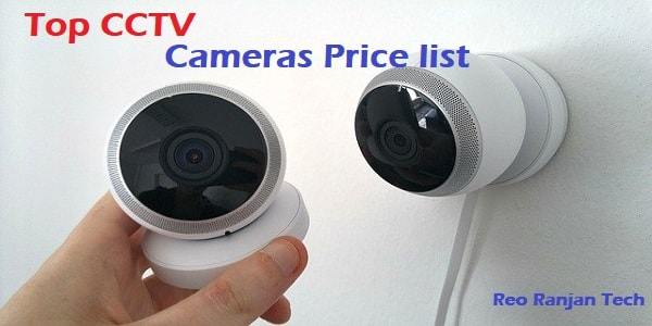 Top CCTV Cameras Price list