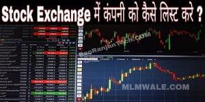stock exchange में कंपनी को कैसे list करें