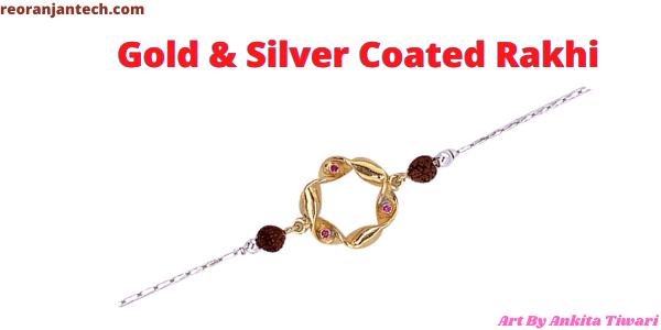 Gold & Silver Coated Rakhi